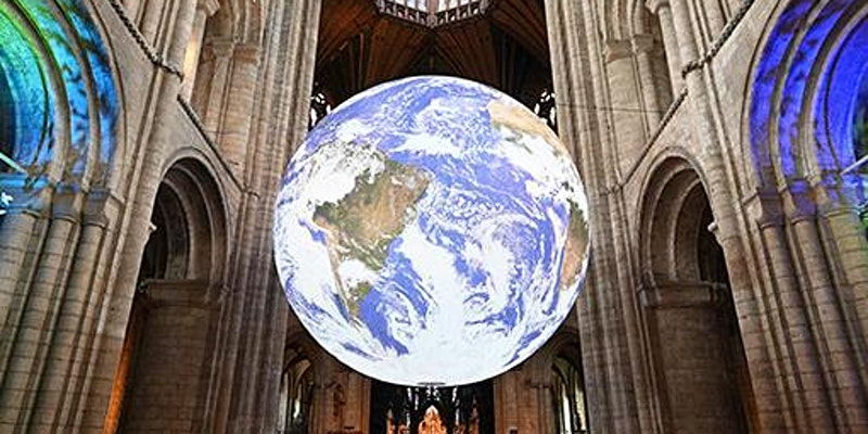 GBC – Exclusive preview of Luke Jerram's GAIA at St Wulfram's Church before it opens to the public